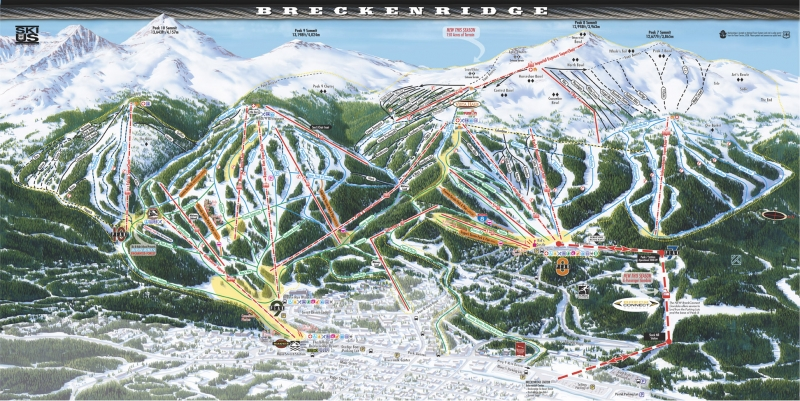Breckenridge Ski Resort Trail Map Breckenridge Colorado