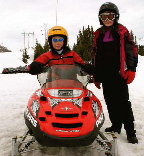 Breckenridge Snowmobiling Children