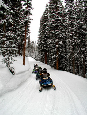 family gathering vacation home vail ride snow mobiles